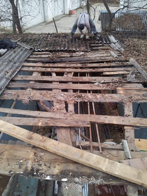 Замена ремонт крыши гаража